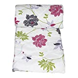 Frabjous Floral Polycotton Single Size Dohar (White)