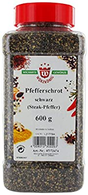 Wichartz Würzkönig Pfefferschrot schwarz, 2er Pack (2 x 600 g) von Wichartz Würzkönig bei Gewürze Shop