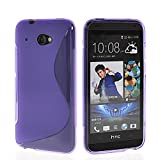 Pattacer TPU Soft Gel Silicone Back Cover Case for HTC Desire 601 Zara Purple