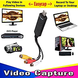 EasyCap Video And Audio Capturing Device directly from TV To PC/Laptop
