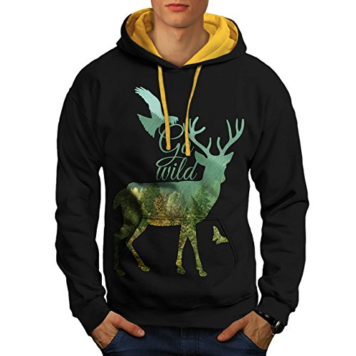 go-wild-nature-life-free-forest-men-new-black-gold-hood-l-contrast-hoodie-wellcoda