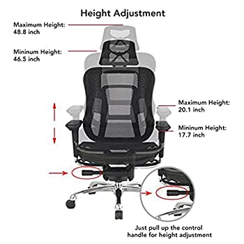 Viva Chair Ergonomic Mesh Office Chair with Customizable Seat, Back, headrest and Armrest Positions