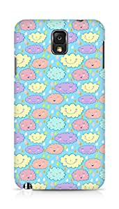 Amez designer printed 3d premium high quality back case cover for Samsung Galaxy Note 3 (cute clouds colourful )