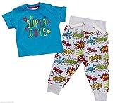 BABYTOWN Baby Boys Superhero camiseta & Jogpants Set 2piezas Joggers Outfit azul azul Talla:6-9 meses