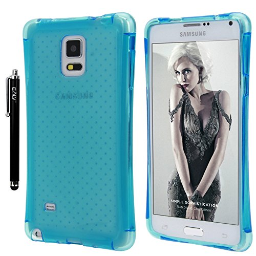 newest 55adc 1c031 Note 4 Case, E LV Galaxy Note 4 Case Cover - Clear Soft Rubber Hybrid Armor  Defender Protective Case Cover for Samsung Galaxy Note 4 - BLUE