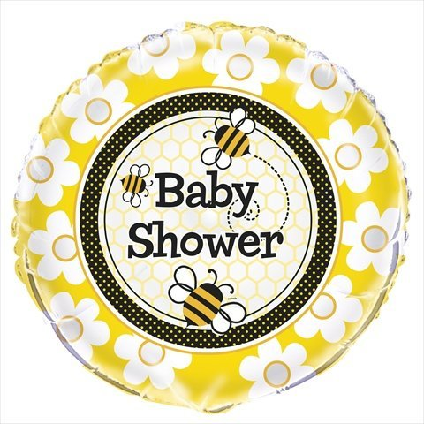 "Honey Bee 18"" Baby Shower Foil Balloon - 1"