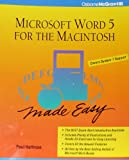 Microsoft Word 5 for the Macintosh Made Easy (0078817692) by Hoffman, Paul