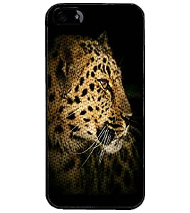 PrintDhaba Leopard D-4371 Back Case Cover for APPLE IPHONE 5 (Multi-Coloured)