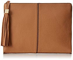 Nine West NW City Chic Leather Behind The Seams Pouch Large Clutch