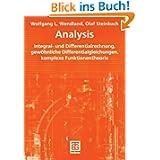 Analysis: Integral- und Differentialrechnung, gewöhnliche Differentialgleichun... komplexe Funktionentheorie