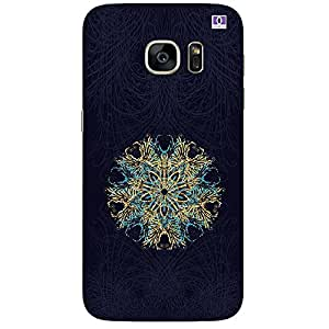 Blue & Gold Rounded Design - Mobile Back Case Cover For Samsung Galaxy Note 7