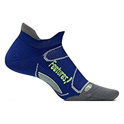 Feetures Elite Light Cushion No Show Tab Navy/Reflector Size Small