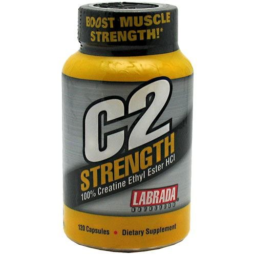Labrada - C2 Strength 100% Creatine Ethyl Ester Hcl - 120 Capsules, 6 Pack (Image May Vary)