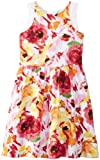 Nicole Miller Big Girls' Floral Cotton Sateen Fit and Flare Dress