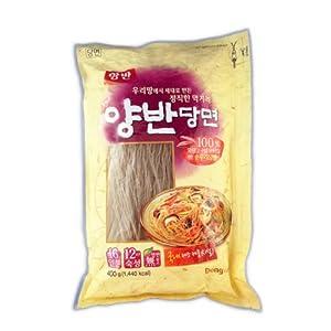 Premium Glass Noodle, Korean Vermicelli, Dangmyun 100% Korean (14.10 Oz) By Yangban