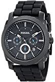 Fossil Men's FS4487 Machine Chronograph Silicone Watch - Black
