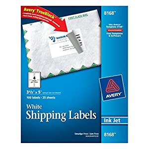 Avery shipping labels for inkjet printers 3 for Avery 8168 template