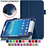 [CORNER PROTECTION] Fintie Samsung Galaxy Tab 3 Lite 7.0 Folio Pro Case Cover for SM-T110 and SM-T111 3G 7-inch (3 Year Manufacturer Warranty) - Navy