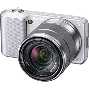 Sony Alpha NEX-3 Interchangeable Lens Digital Camera w/18-55mm Lens (Silver)- 14.2 Mpix