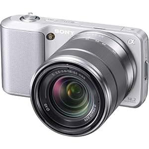 Sony Alpha NEX-3 Interchangeable Lens Digital Camera w/18-55mm Lens (Silver)- 14.2 Mpix