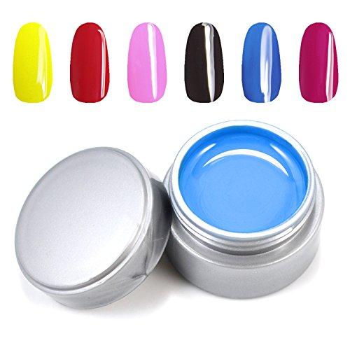 New 6 Pcs Uv Gel Nail Polish 6Ml Pure Colour Uv Gel Uv Gel Set Nail Art #26