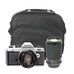 ProMaster 2500PK 35mm Film SLR Camera with 50mm Lens & Tokina 80-200mm Lens & Case