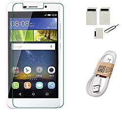APS GOLD Honor Holly 2 Plus TEMPERED GLASS WITH SIM ADAPTER + USB DATA CABLE ACCESSORY COMBO