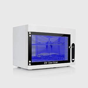 15L UV Sterilizer Disinfection Cabinet Sterilizer Box Sterilization Disinfection Cabinet for Dental Medical Surgical Instruments Beauty Salon Nail Art Equipment 110V