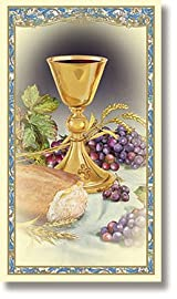 New Body of Christ Jesus Catholic Christian First Communion Holy Prayer Card