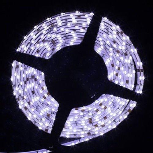 Sinollc 16.4Ft 5M 335 Smd Led Cool White Side View Light-Emitting 300Leds Lighting Ribbon 60Leds/M Waterproof(Ip-65) Led Flexible Light Strip