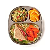 ECO Lunchboxes Stainless Steel 3-Section Food Tray 9 x 7 BPA-Free
