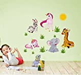 Syga Cartoon animals wall wall stickers J_EGOG