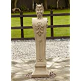 Large Garden Ornaments - Devil Boundary Marker Post Stone Statue