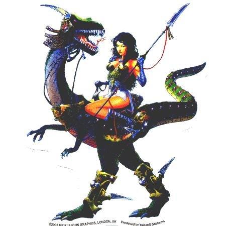 Dragon Girl Sticker - Buy Dragon Girl Sticker - Purchase Dragon Girl Sticker (cooolstuff4u, Toys & Games,Categories,Arts & Crafts,Stamps & Stickers)