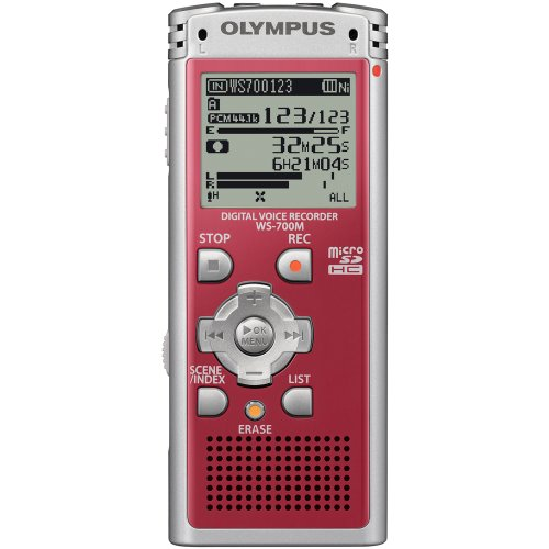 Olympus WS-700M Digital Voice Recorder 142630 (Red)