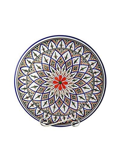 Le Souk Ceramique Tabarka Round Platter, Multi