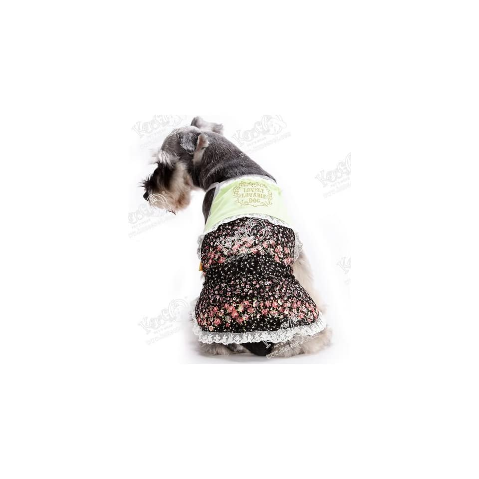 for spring and summer (small and medium sized doggies) dock wear size 2 cool sealche DogWear pet dog pet dog clothes green floral (japan import)