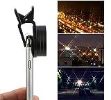 Koolertron スマートフォン用 高精細カメラレンズ 光条効果/クロス効果スターフィルター光条4本、光条6本、光条8本三枚セット(37mm) プロ iPhone 6/6S/5/5C/SE Samsung HTC Sony