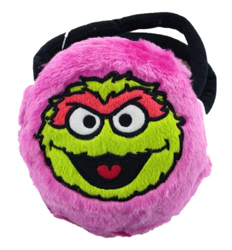 Small Plush Oscar the Grouch Purse - Pink Oscar the Grouch Cosmetic Bag