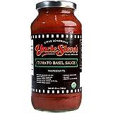 Uncle Steve's Italian Tomato Basil Pasta Sauce - Organic Gluten Free - Non Gmo - Kosher - 3- 25 Ounce Bottles