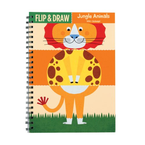 Mudpuppy Jungle Animals Flip and Draw