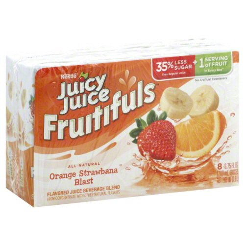 Juicy Juice Fruitifuls All Natural Orange Stawbana Blast 8Count 6.75 Oz Boxes - Pack Of 4 - Total 32 Boxes front-273953