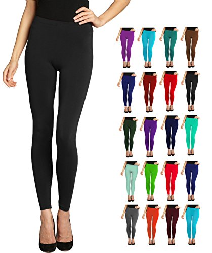 Lush Moda Seamless Full Length Leggings - Variety of Colors - Black