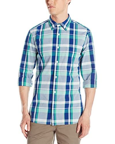 French Connection Men's Madras Check Long Sleeve Shirt