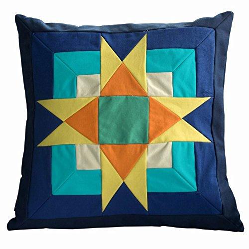 Patchwork dekorative Kissen mit eingelassenem Sofa / Bett Kissen, 48 * 48 cm