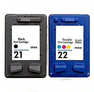 HP 21 & HP 22 Ink Cartridge Twin Pack for HP Deskjet F380 HP21 HP22