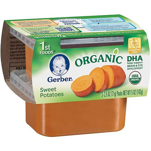Gerber Organic Baby Food 1St Foods Sweet Potatoes -- 2 Containers front-361438