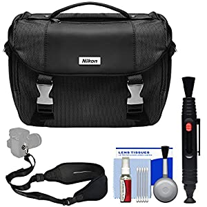 Nikon Deluxe Digital SLR Camera Case Bag with Strap Kit (Certified Refurbished) for D3300, D3400, D5300, D5500, D7200, D500, D610, D750, D810