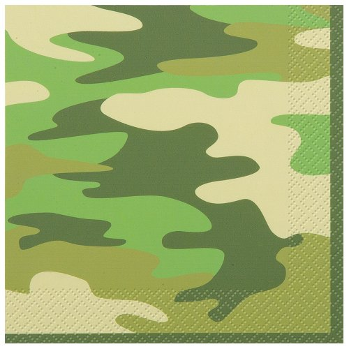 Camo Beverage Napkins, 16ct