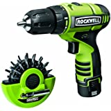 Rockwell RK2510K2.1 12-Volt Lithium Cordless Drill/Driver Puck and 2 Batteries, 16-Piece